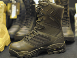 The Ridge Ultimate includes an interior that uses Poron foam to absorb shock and make the boot...