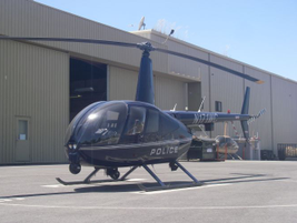 The Long Beach (Calif.) Police Department uses Robinson's R44 Raven, a smaller craft ideally...