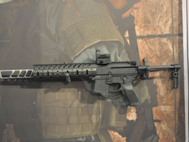 Using a short-stroke gas piston system, the SIG MPX subgun can accept 9mm, .40 S&W, and .357 SIG...