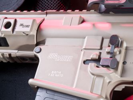 The SIG716 arrives with two 20-round PMAGs.