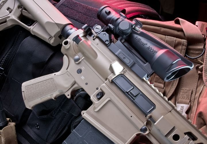 The SIG716 is chambered in 7.62x51mm and employs a short stroke pushrod operating system with a...