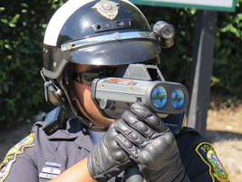 Officers using All Traffic Solutions' TraffiCloud-enabled Lidar have vehicle speed, distance,...