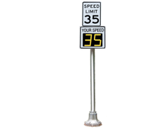 The RadarSign Titan TC-400B is a battery powered radar speed sign that's lightweight and...