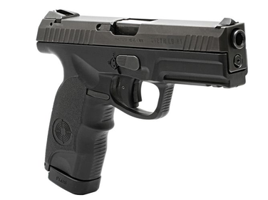 The L9-A1 is Steyr-Mannlicher's newest polymer frame pistol. Visible here is the trigger block...