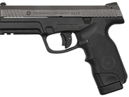 Visible here is the L9-A1's large magazine release, slide release lever, and the low-mount sights.