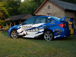 Greenfield Police Officer Jen Heintz also photographed the Subaru.