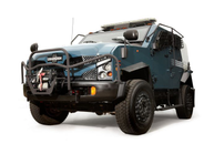 Oshkosh Defense's TPV is built on a Ford F550 chassis with a  325-horsepower, turbocharged V-8...