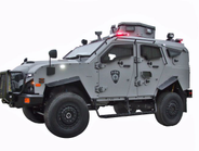 OshKosh Defense's armored vehicle offers tactical teams features such as drop-down skip plates...