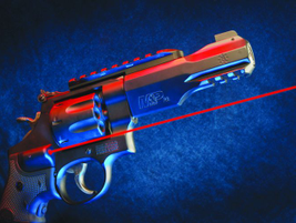 The TRR8 arrives with Crimson Trace Laser Grips that offer comfort, when shooting .357 Magnum...