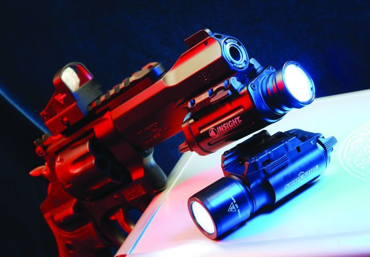 The revolver's Picatinny rails allow for the mounting of a variety of optics and weapon lights,...