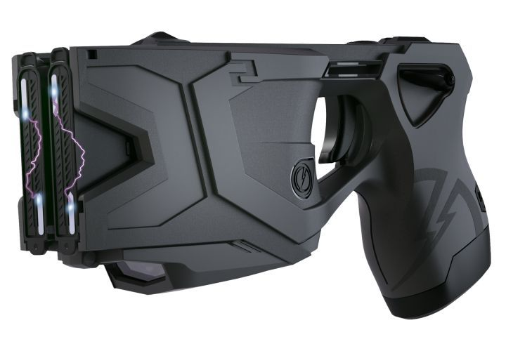 The TASER X2 electronic control device is available in black and safety yellow. It's...