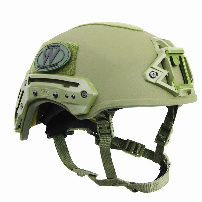 Team Wendy's Exfil Ballistic Helmet features a hybrid composite shell with distinctive geometry...