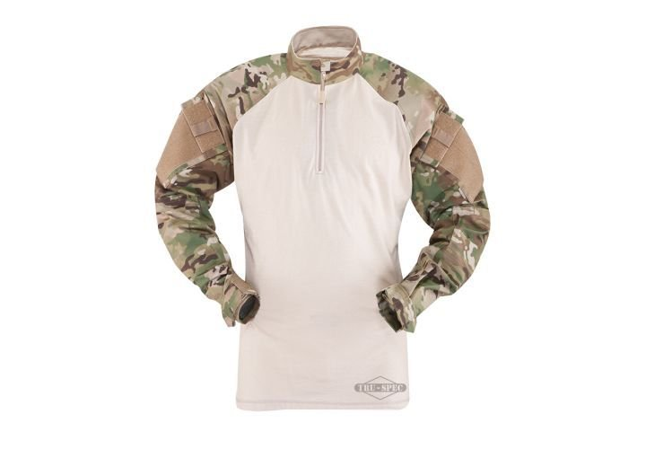 The ¼ Zip Combat Shirt offers a ¼ zip front mandarin collar and zipper with cover hood for...