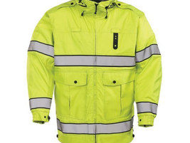 Propper's HALO I rain parka is designed to meet ANSI 2004 Class 3 certification with high-vis...