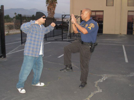 Defending With Legs: Your legs are stronger than your arms. You can use them to push the suspect...