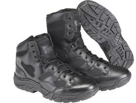 The 5.11 Taclite 8-inch Duty Boot has an upper of full-grain leather, 1,200-denier Cordura...
