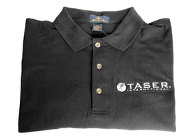 For wear when training or off duty, TASER's classic black short-sleeve polo shirt features the...