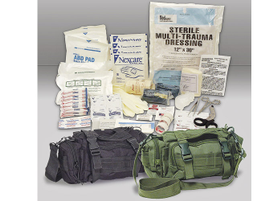 Voodoo Tactical's Rapid Response Bag is a medical kit that contains items to treat anything from...