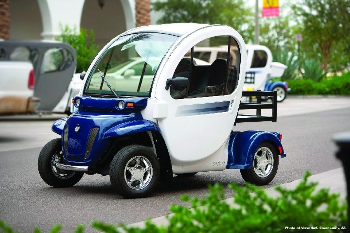 Global Electric Motorcars (GEM) manufactures battery-electric vehicles that look very much like...