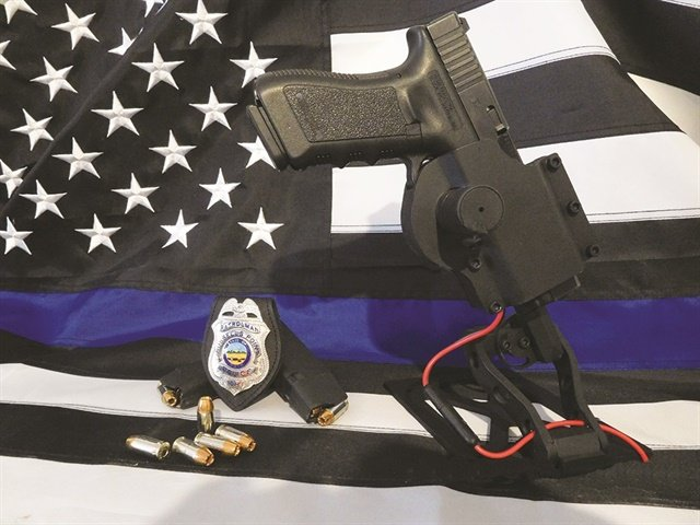 The Vehicle Mount Tactical Holster was designed by and for law enforcement to defend against ambush. (Photo: Vehicle Mount Tactical Holster)
