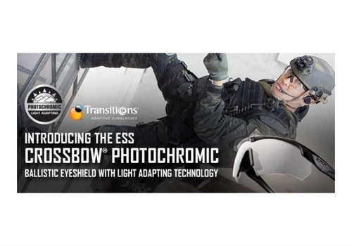 7ae1b9add17 The ESS Crossbow Photochromic eyeshield is created using Transition Optics  Lenses and have redefined performance and utility for eye protection.