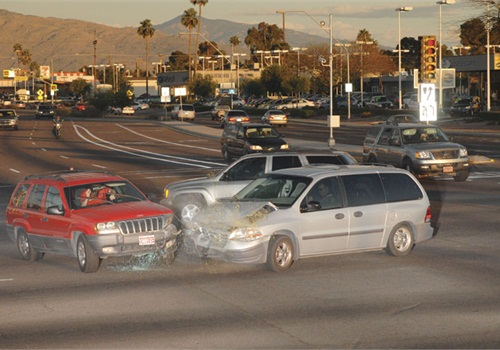 An image of an actual accident captured using an American Traffic Solutions camera.