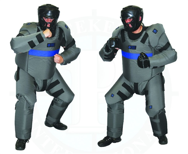 Peacekeeper DT Suits include head protection with removable face guards and are available in small/medium and large/extra-large sizes. (Photo: Peacekeeper International)