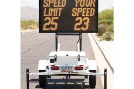 Fast-3350 VMS Speed Display Trailer