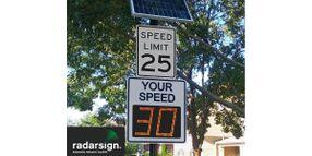 Radarsign Brand TC-600 Full Matrix Radar Speed Sign