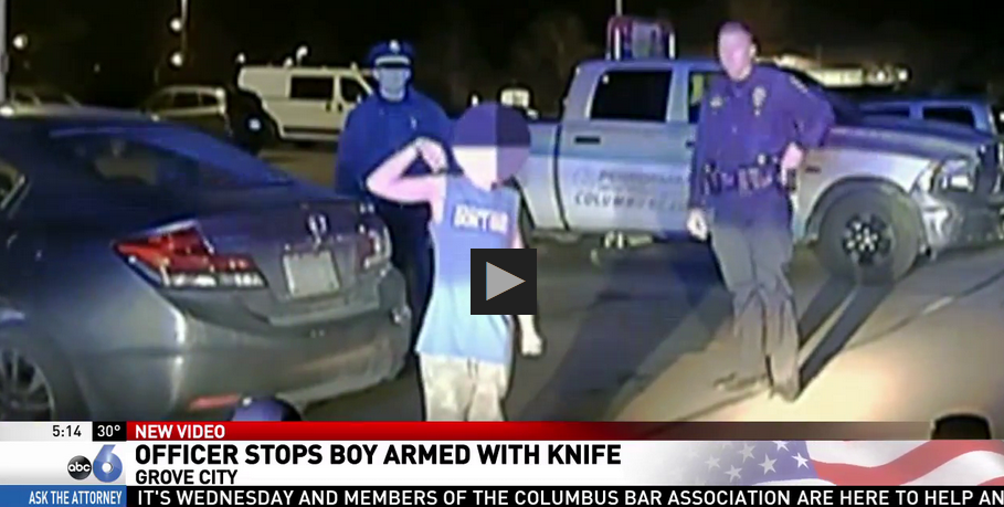 Ohio Police Disarm Suicidal 11-Year-Old Knife Wielding Boy