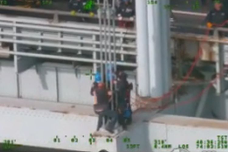 Police Save Would-be NYC Bridge Jumper