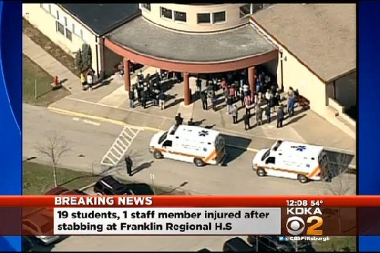 Footage of School Stabbing Suspect
