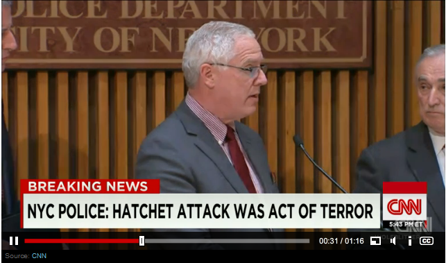 NYPD: Hatchet Attack an Act of Terror