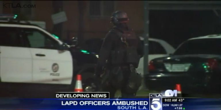 2 LAPD Police Officers Ambushed in Unprovoked Attack