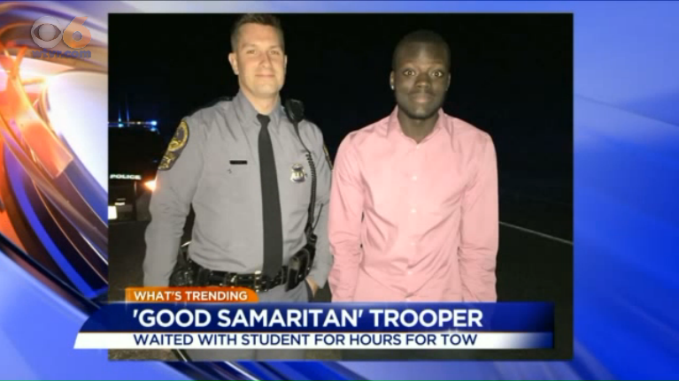 Photo of Virginia Trooper Helping Stranded Driver Goes Viral