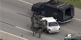 Texas Car Chase Ends in Crash With SWAT Vehicle