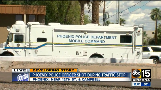 Phoenix Officer Shot During Traffic Stop, Suspects Arrested