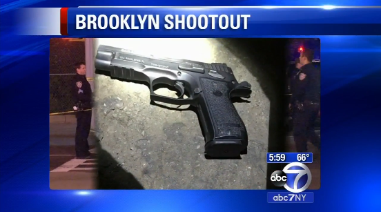 NYPD Cruiser Shot at; 4 Suspects Arrested, 1 Injured