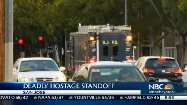 California Standoff Ends with Officer Injured, Hostage and Suspect Dead