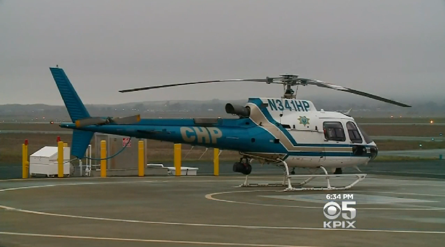 CHP Helicopter Avoids Hitting Drone