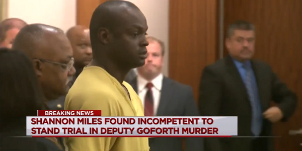 Accused Deputy Killer Found Incompetent to Stand Trial