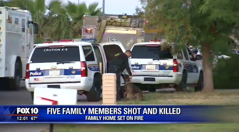 Officers Tried to Rescue Family Shooting Victims from House Fire