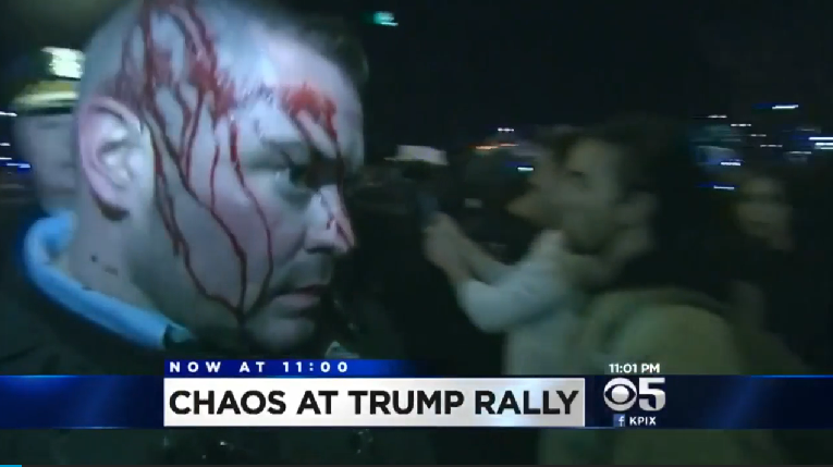 2 Officers Injured During Trump Rally in Chicago