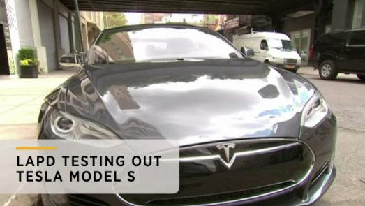 LAPD Testing Tesla Electric Sedans