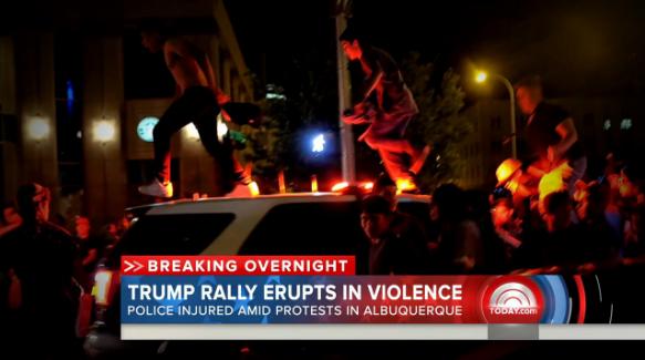 Albuquerque Officers Injured at Anti-Trump Protest