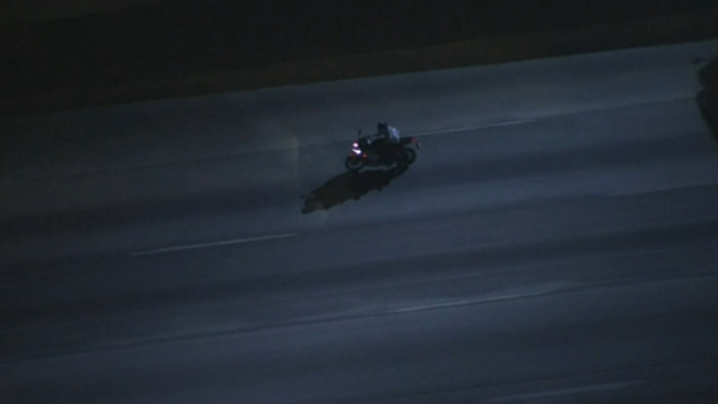 Police Tackle Motorcyclist After High-Speed Pursuit on California Freeways