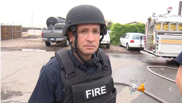 Denver Firefighters Using Ballistic Vests, Helmets
