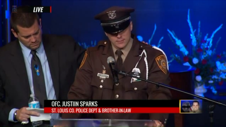 Fallen MO Officer's Brother-In-Law Gives Emotional Eulogy