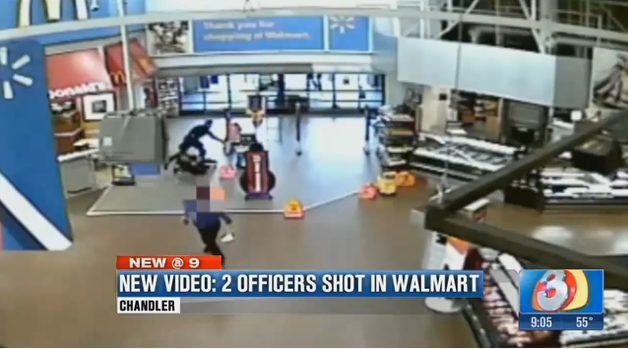 Footage Released of April AZ Wal-Mart Shootout Where Officers Wounded, Suspect Killed