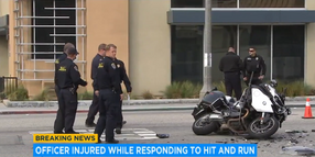 CA Motor Officer Critically Injured Responding to Fatal Crash